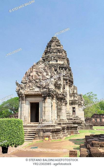 The main tower of Prasat Hin Phimai temple, Phimai historical park, Thailand