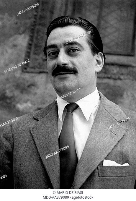 Portrait of Pier Luigi Bellini delle Stelle. Portrait of Italian partisan and lawyer Pier Luigi Bellini delle Stelle who was in command of the partisans party...