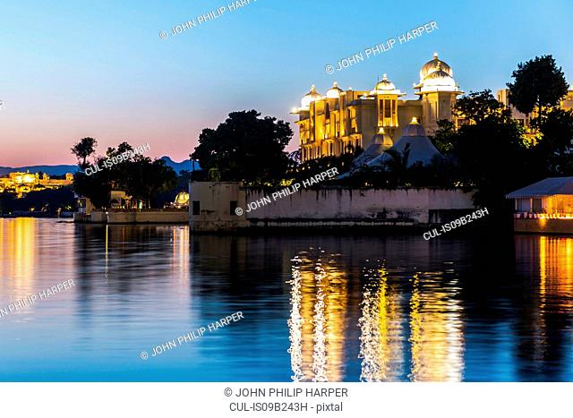 City Palace and Lake Pichola, Udaipur, Rajasthan, India