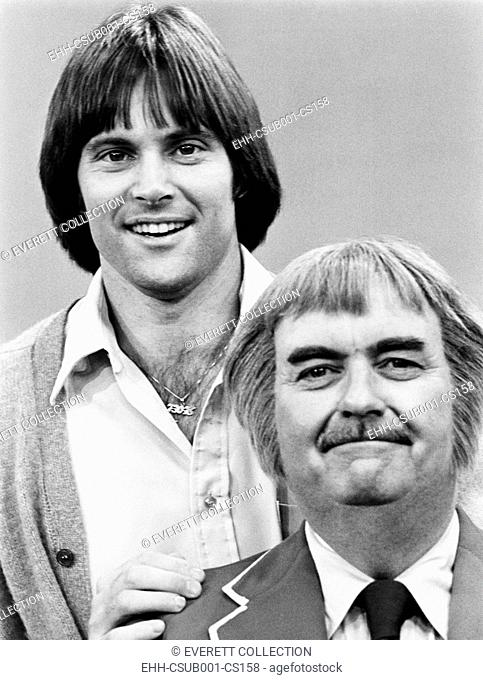 Bruce Jenner with Bob Keeshan in August 1978. Keeshan created and played the character 'Captain Kangaroo'. The morning children's television show aired on CBS...