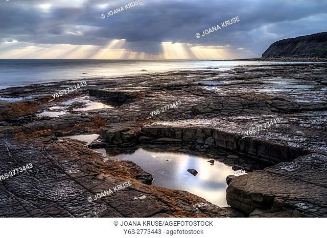 Kimmeridge Bay, Clavell Tower, Jurassic Coast, Dorset, England, UK