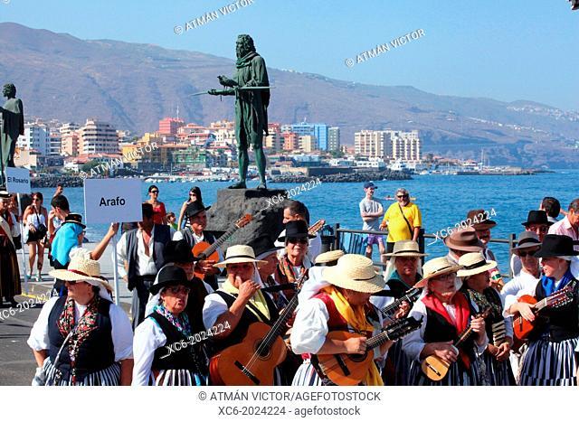 Virgin of Candelaria pilgrimage . municipality of Candelaria. Santa Cruz de Tenerife. Spain