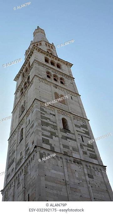 Detail of the famous steeple of Modena, Italy culture