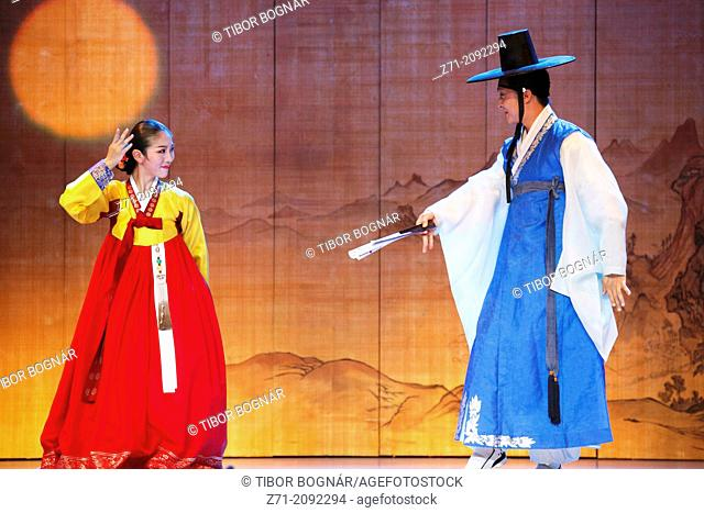 South Korea, Seoul, Korea House, Sarang-ga dance,