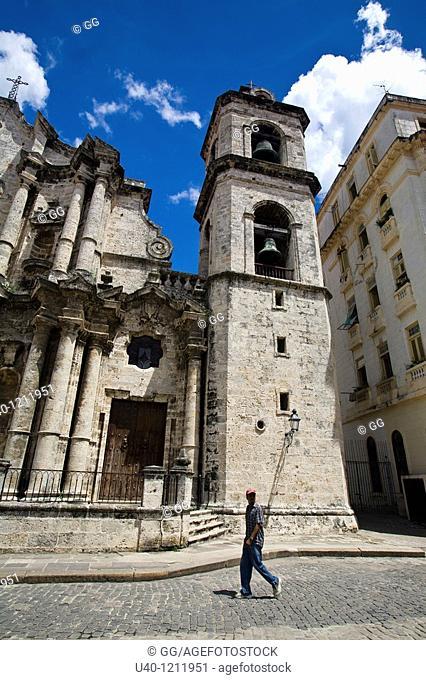 Cuba, Havana Vieja, Torre de la Catedral de la Habana