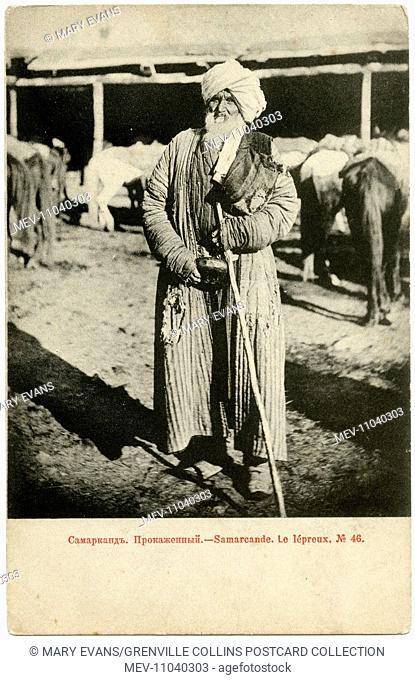 Uzbekistan - Samarkand - A leper