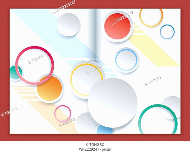 Brochure design with circles