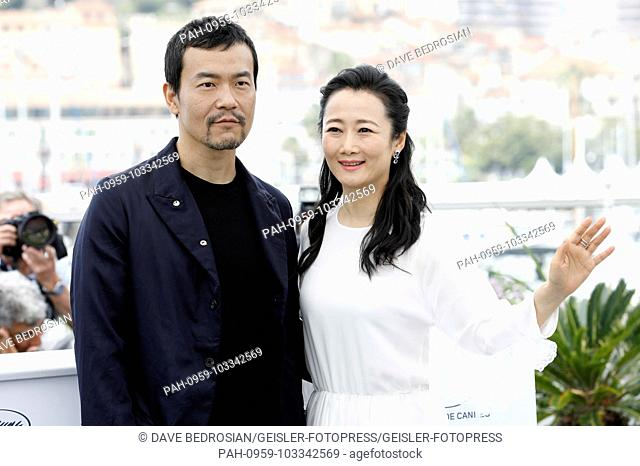 Fan Liao and Tao Zhao at the 'Ash Is Purest White / Jiang hu er nv' photocall during the 71st Cannes Film Festival at the Palais des Festivals on May 12