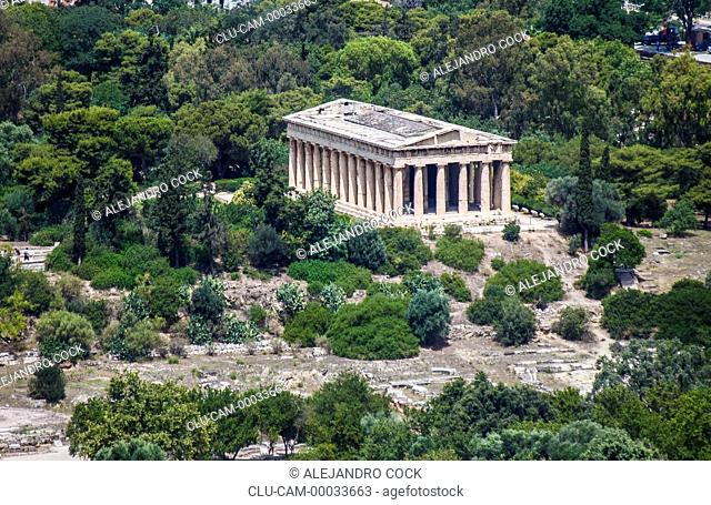 Temple of Teseo, Acropolis, Athens, Greece, Western Europe