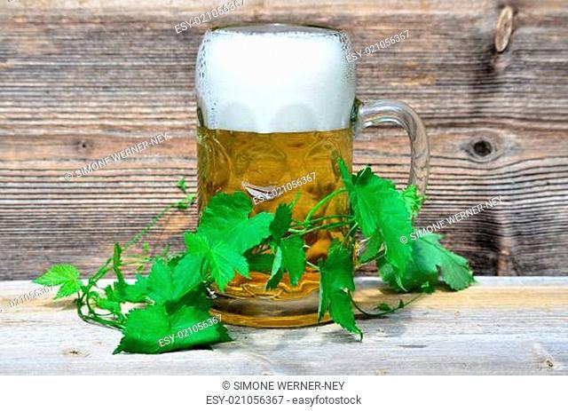 Bierglas Hopfen
