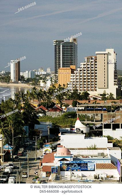 MEXICO-Sinaloa State-Mazatlan: Zona Dorada / Golden Hotel Zone-Hotels and Playa Las Gaviotas Beach