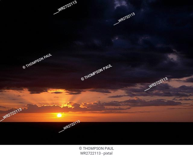 90900110, Sunset, over, water, scenic, seascape, m