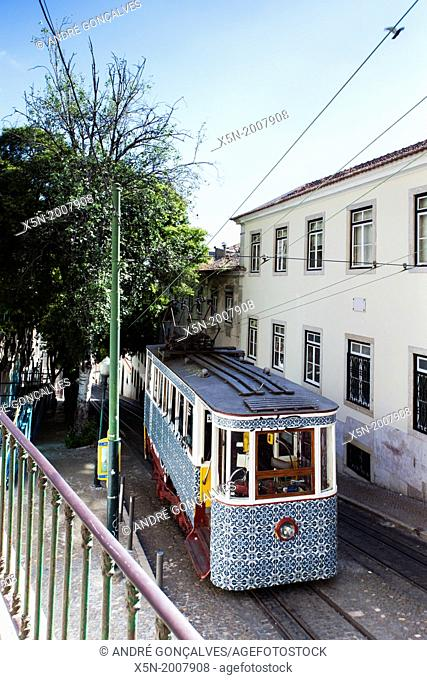 The Gloria Funicular, Lisobn, Portugal, Europe