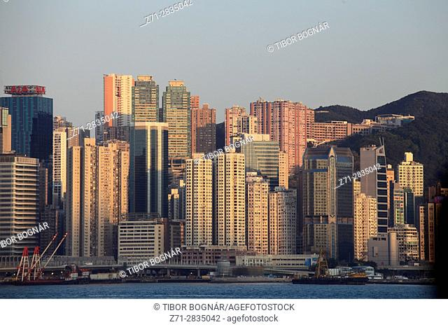 China, Hong Kong, Causeway Bay, skyline,