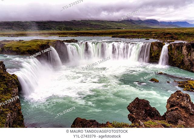 The Waterfall of the Gods, Godafoss, Myvatn, Iceland