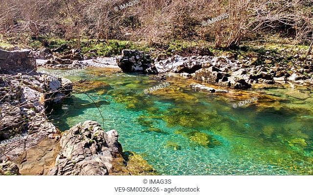 Dobra river, Asturias, Spain