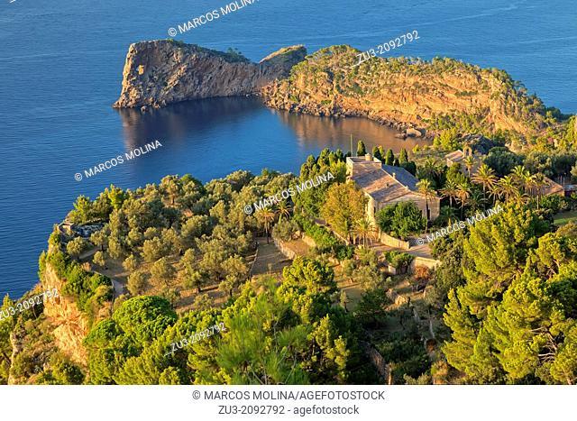 Northwest coast of Majorca. Miramar estate and La Foradada peninsula. Deia area. Balearic islands, Spain