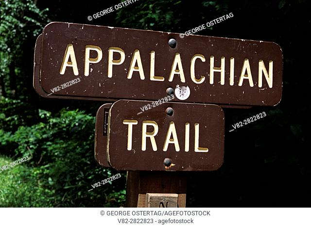 Appalachian Trail sign, Mt Rogers National Recreation Area, Jefferson National Forest, Virginia