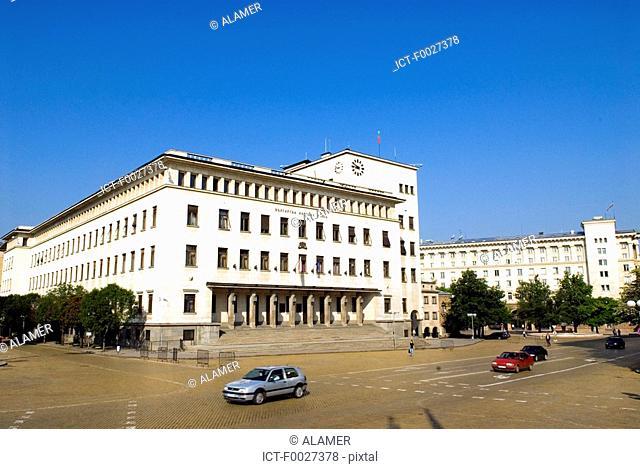 Bulgaria, Sofia, soviet style building