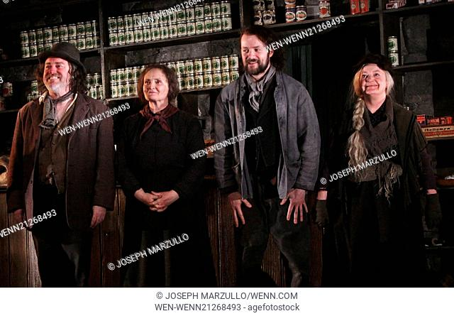 First Preview of Broadway's The Cripple of Inishmaan at the Cort Theatre - Curtain Call. Featuring: Pat Shortt,Gillian Hanna,Padraic Delaney