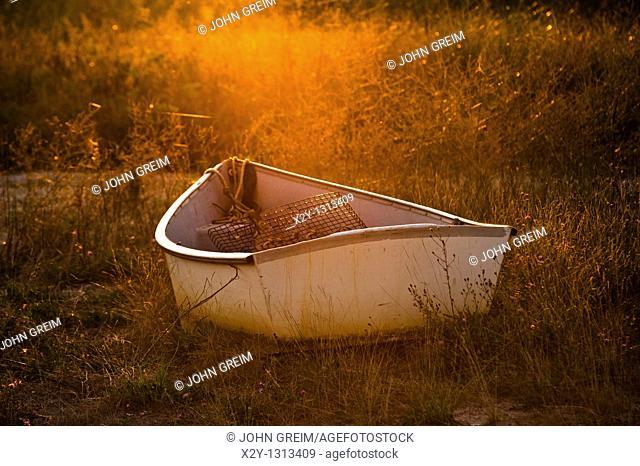 Rowboat, Wellfleet, Cape Cod, MA, Massachusetts, USA