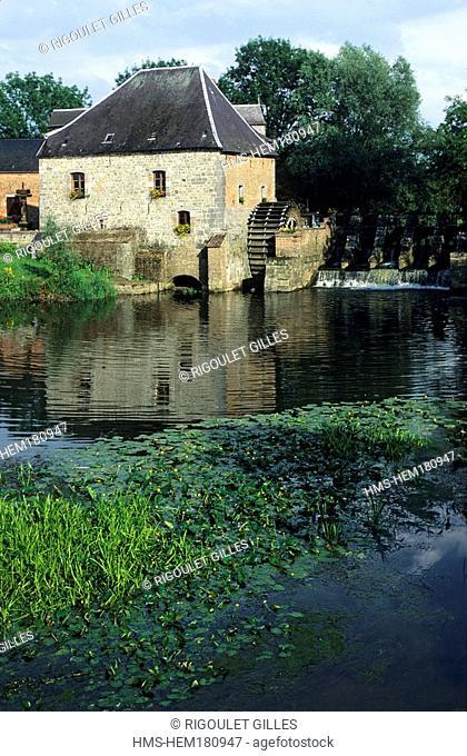 France, Nord, Avesnois, mill at Grand Fayt