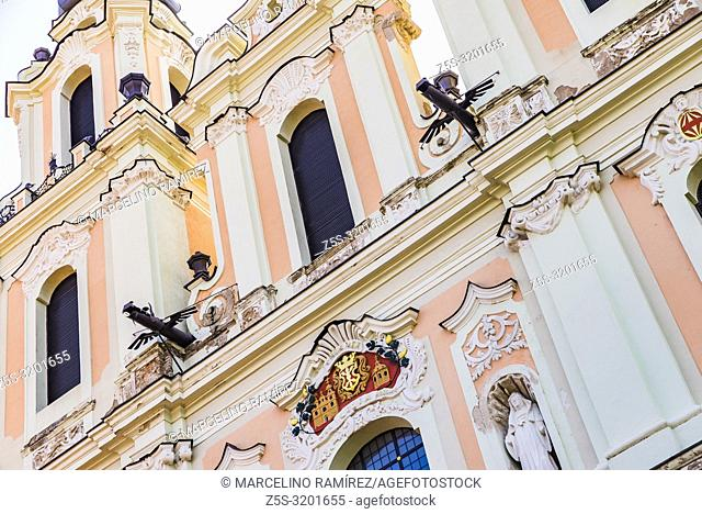 Church of St. Catherine, twin-towered 18th-century church, rich with baroque and Rococo detail, was once part of a Benedictine monastery