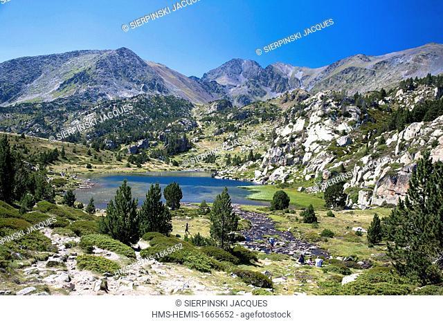 France, Pyrenees Orientales, Capcir region, Parc Naturel Regional des Pyrenees Catalanes (Natural Regional Park of Pyrenees Catalanes), The Carlit pic
