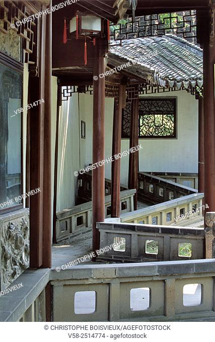 Surging Waves pavilion, Canlang Ting garden, World Heritage Site, Suzhou, Jiangsu, China
