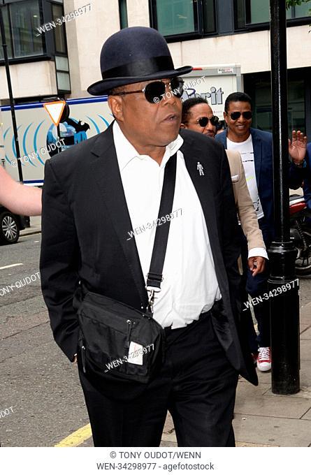 Celebrities at BBC Radio 2 including Bryce Dallas Howard, Chris Pratt and The Jacksons Featuring: Tito Jackson Where: London