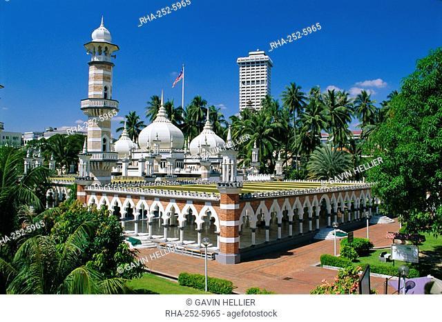 Masjid Jamek Friday Mosque built in 1909 near Merdeka Square, Kuala Lumpur, Malaysia
