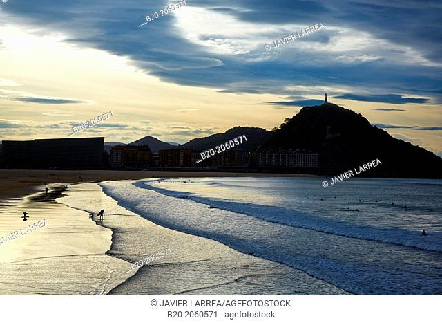 La Zurriola beach, Kursaal center, Donostia (San Sebastian), Gipuzkoa, Basque Country, Spain