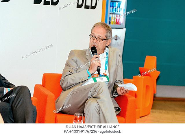 BAYREUTH/GERMANY - JUNE 21: Prof.Dr. Stefan Leible (President of the University of Bayreuth) speaks on the stage during the DLD Campus event at the University...