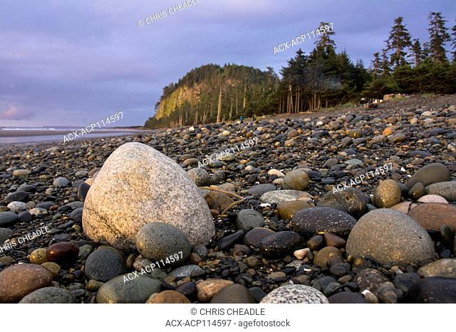 Agate Beach and Tow Hill, Haida Gwaii, formerly known as Queen Charlotte Islands, British Columbia, Canada
