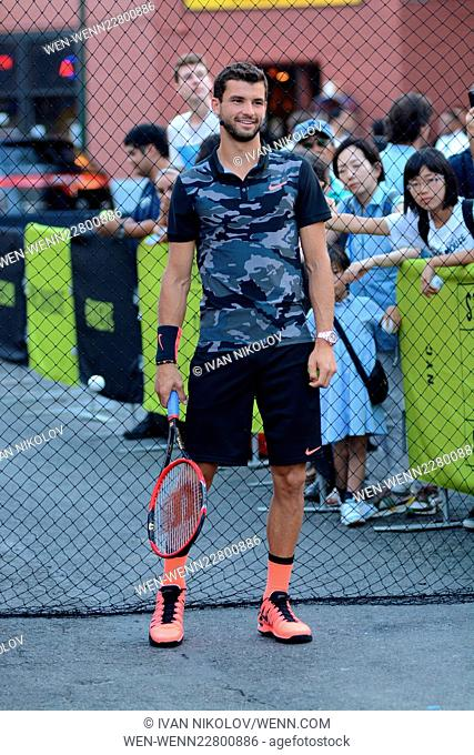 "Nike's """"NYC Street Tennis"""" Event Featuring: Grigor Dimitrov Where: New York City, New York, United States When: 24 Aug 2015 Credit: Ivan Nikolov/WENN"