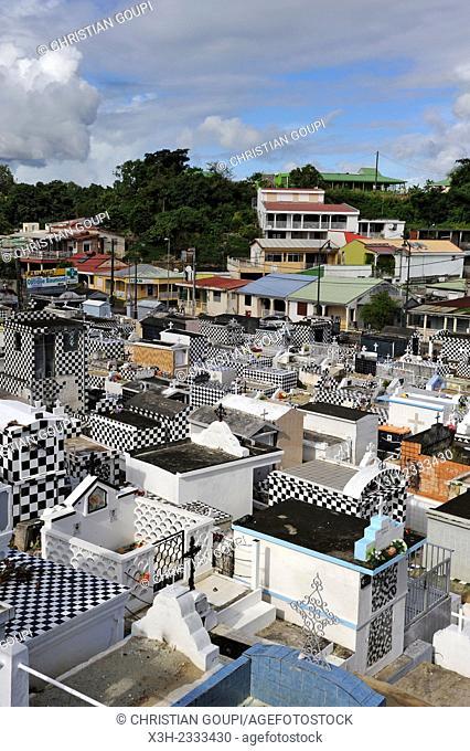 cemetery of Morne-a-l'eau, Grande-Terre, Guadeloupe, overseas region of France, Leewards Islands, Lesser Antilles, Caribbean