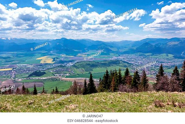Landscape - view from hill Predny Choc, Slovakia