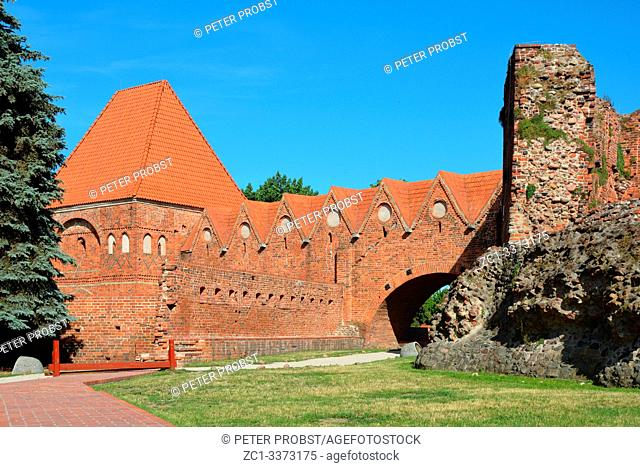 Castle of Torun built in 1260 by the Order of Teutonic Knights as a fortress - Poland