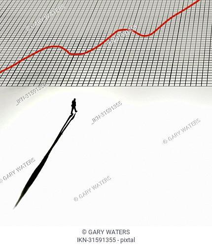 Man walking onto graph