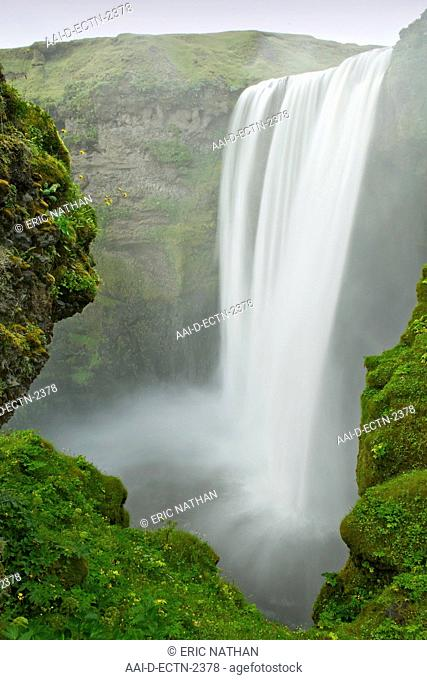 Skogar waterfall in southwest Iceland