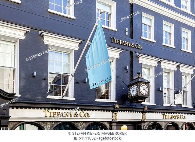 Tiffany jewelry store, London, England, United Kingdom