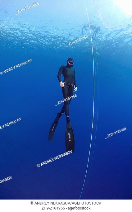 Freediver, Mediterranean Sea, Kash, Turkey