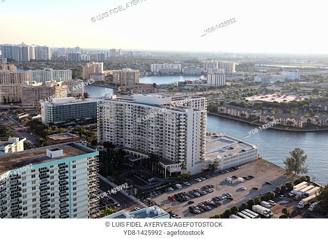 Panoramic View of Hallander Beach, Florida, USA