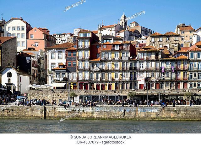 Promenade, Ribeira historic centre, Porto, UNESCO World Heritage Site, Portugal