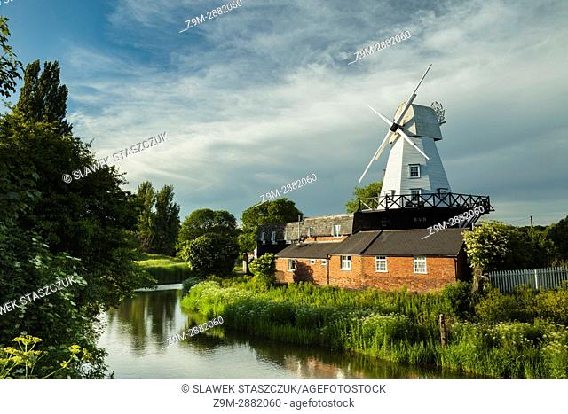 Spring afternoon at Gibbet mill in Rye, East Sussex, England