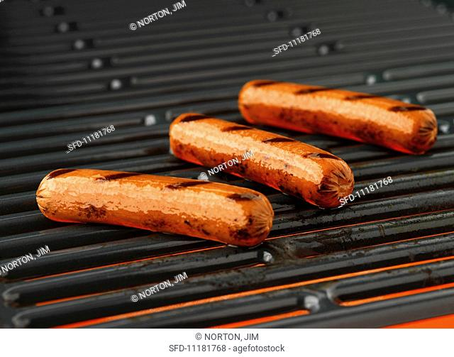Barbecued sausages