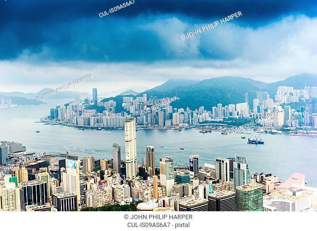 Hong Kong island and skyline, Hong Kong, China