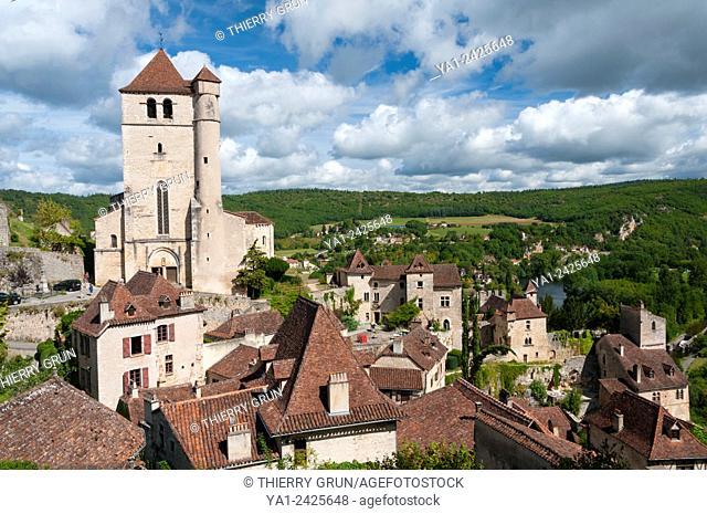 France, Quercy, Lot 46, Saint-Cirq-Lapopie village