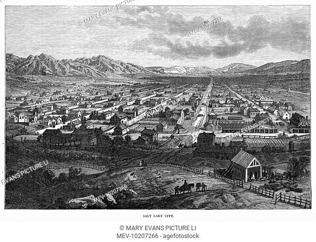 Bird's-eye view of the city before the construction of the Temple and Tabernacle
