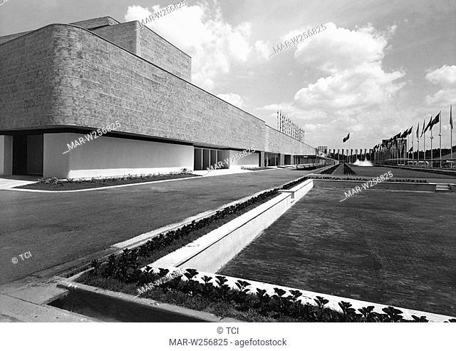 italia, architettura fascista, mostra nazionale colonie estive e assistenza all'infanzia, 1930-40